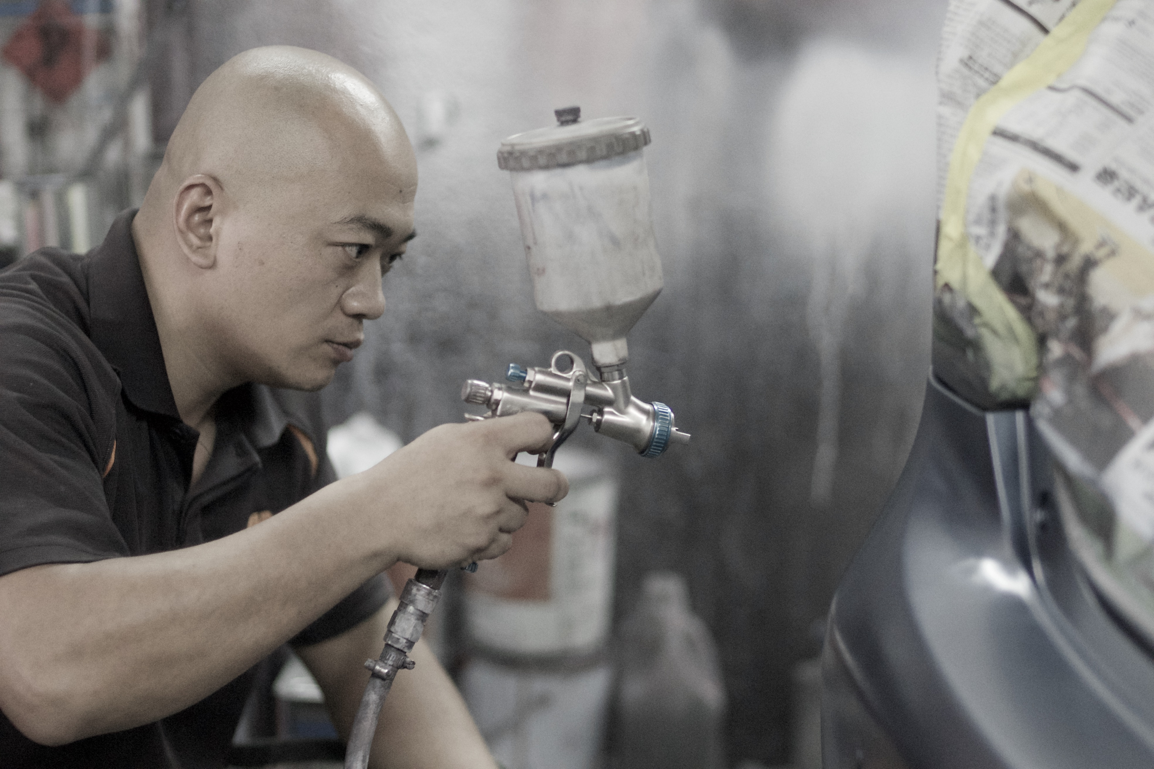 automotive car spray painting painter
