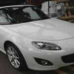 mazda mx5 convertible soft top car spray paint sin heng long motor work car workshop in ang mo kio singapore