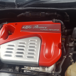 alfa romeo mito customized trim interior spray paint ferrari Rosso Scuderia red engine cover