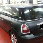 mini cooper mini one car spray paint frozen gray frozen black matt gray matt black sin heng long mtoor work car workshop