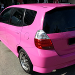 honda fit jazz pink car singapore car spray paint sin heng long motor work car workshop