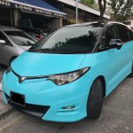 Customized_Spray_Paint_Toyota_Estima_Turquoise_Cyan